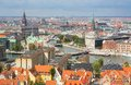 View of copenhagen from vor frelsers kirke denmark Stock Images