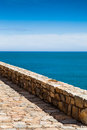 View costa brava pathway begur Stock Photography