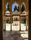 Courtyard in Alhambra Palace Royalty Free Stock Photo