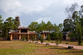 View of courtyard Thien Mu pagoda Royalty Free Stock Photo