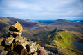 View from crib goch mountain snowdonia national park north wales england united kingdom great britain uk eng gb europe Royalty Free Stock Photos