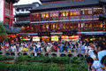 View of crowded yuyuan garden è  åœ' on china national day of on china national day of tourists crowd in one of shanghai s Royalty Free Stock Image