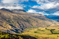 View from Crown Range Lookout, South Island, New Zealand Royalty Free Stock Photo