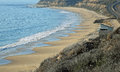 View of Crystal Cove State Park beach in Southern California. Royalty Free Stock Photo