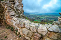 View from Csesznek castle Royalty Free Stock Photo