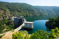 View of dam at Sil river.  Galicia Royalty Free Stock Photo