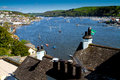 A view of Dartmouth and the River Dart Stock Photo
