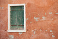 View of a dated wooden balcony from burano island venice Stock Images
