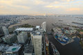 View from de Yokohama sky building, Yokohama city. Royalty Free Stock Photo