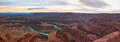 View from dead horse point of the colorado river Royalty Free Stock Images