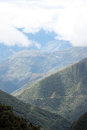 View of the Death road on the hill slope, Bolivia Royalty Free Stock Photo