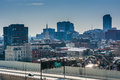View of the delaware expressway from the ben franklin bridge wal walkway in philadelphia pennsylvania Stock Photography