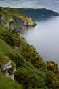 View of Devon coastline near Lynton & Lynmouth Stock Images