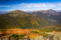 View of distant mountains from the summit of Mount Washington, N Royalty Free Stock Photo