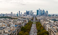 View of the district La Defense Royalty Free Stock Photo