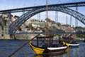 View of the Dom Luis I bridge, Porto Royalty Free Stock Images