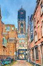 View of the Dom Tower of Utrecht, the Netherlands Royalty Free Stock Photo