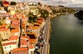 View of Douro river at Porto Stock Image