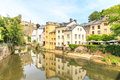 View downtown city part grund luxembourg Royalty Free Stock Photos