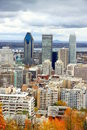 View of Downtown Montreal Stock Photo