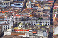 View of downtown Quito Royalty Free Stock Photo