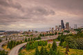 View of downtown Seattle skyline Royalty Free Stock Photo