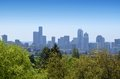 View of downtown seattle from volunteer park Stock Photos