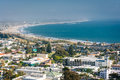 View of downtown ventura and the pacific coast from grant park in california Royalty Free Stock Photo