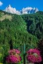 View of dru peak in chamonix alps france europe Stock Images