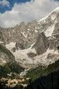 View of dru peak in chamonix alps france europe Stock Image