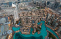 View of Dubai from Burj Khalifa. Royalty Free Stock Photo
