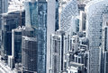 View of Dubai city from the top of a tower Royalty Free Stock Photo