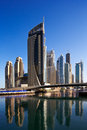 A view of Dubai Marina and JBR Royalty Free Stock Photo