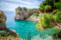 View of Dubrovnik coastline. Royalty Free Stock Photo