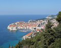 View dubrovnik croatia dalmatian coast mountains Stock Photography