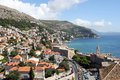 View of dubrovnik croatia in seaside Royalty Free Stock Image