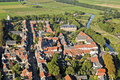View on the dutch town buren from a helicopter areal Royalty Free Stock Images
