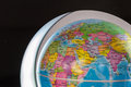 View of earth with political borders focus on north africa and europe Royalty Free Stock Image