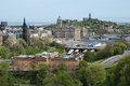 The view of edinburgh from castle scotland uk Stock Photography