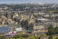 View on edinburgh with princess street uk july panoramic princes and gardens and old town a summer s day in scotland Stock Photography
