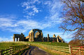 View of egglestone abbey county durham a ruined premonstratensian monastery in Stock Photos