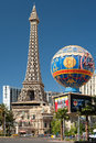 View of eiffel tower in las vegas may on may this is the biggest copy the and its height is meters Royalty Free Stock Image