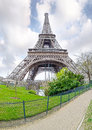 View of the eiffel tower paris april in early spring late eveningon april in paris france Stock Photos