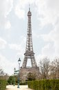 View of the eiffel tower paris april in early spring late eveningon april in paris france initially stood at Royalty Free Stock Photography