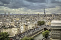 View on eiffel tower in paris france Royalty Free Stock Photos