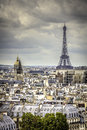 View on eiffel tower in paris late afternoon france Royalty Free Stock Image