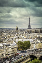 View on eiffel tower in paris late afternoon france Stock Image