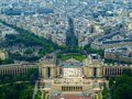 View from Eiffel tower to the Paris city Royalty Free Stock Photo