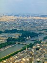 View from Eiffel tower to the Paris city Stock Photography