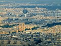 View from Eiffel tower to the Paris city Royalty Free Stock Image